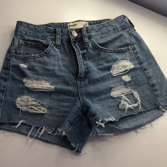 Mom fit distressed shorts from Garage